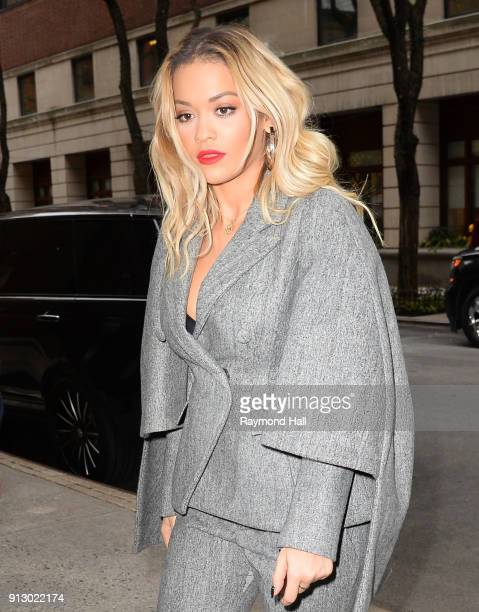Singer Rita Ora is seen arrived at Live With Kelly Show on February 1 2018 in New York City