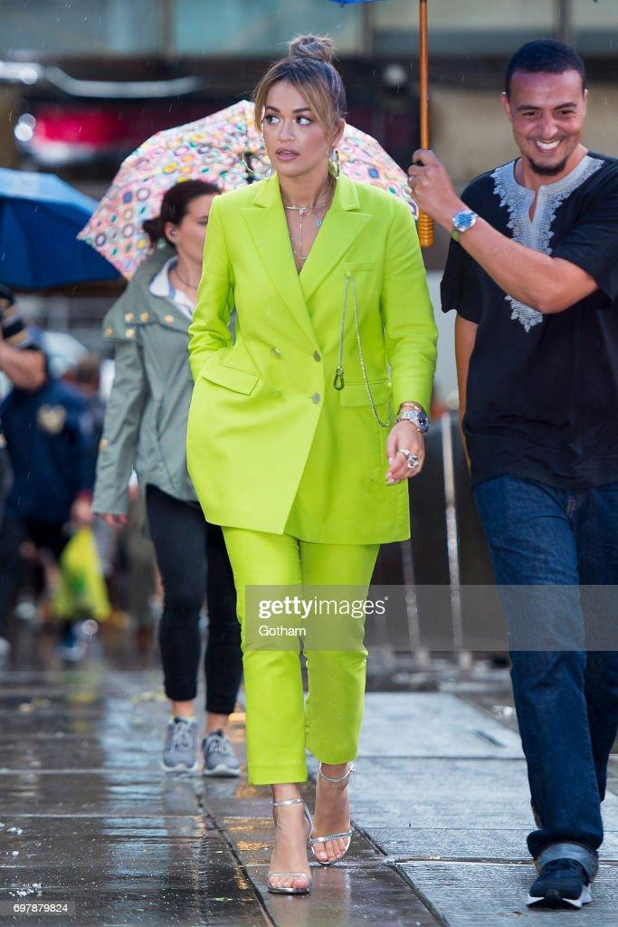 Singer Rita Ora is seen in Midtown on June 19, 2017 in New York City.