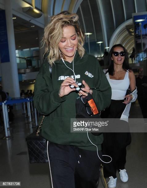Singer Rita Ora is seen on August 8 2017 in Los Angeles California