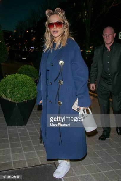 Singer Rita Ora is seen on March 03 2020 in Paris France