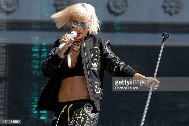 Singer Rita Ora performs during day 2 of the Made in America Festival at Los Angeles Grand Park on August 31 2014 in Los Angeles California