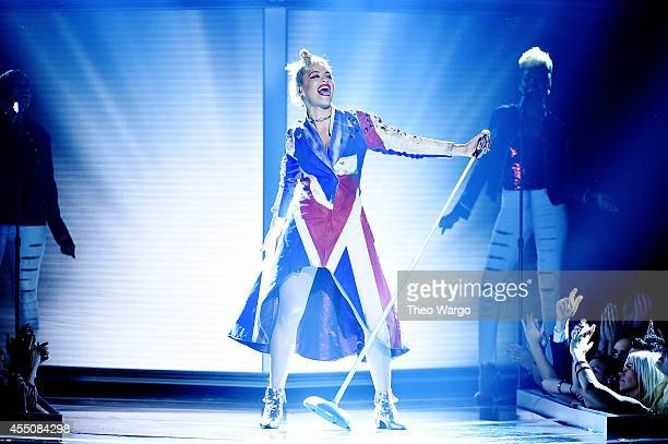 Singer Rita Ora performs onstage at Fashion Rocks 2014 presented by Three Lions Entertainment at the Barclays Center of Brooklyn on September 9 2014...