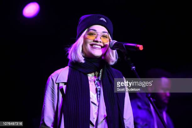 Singer Rita Ora performs onstage during the One Love Malibu Festival at King Gillette Ranch on December 02 2018 in Malibu California