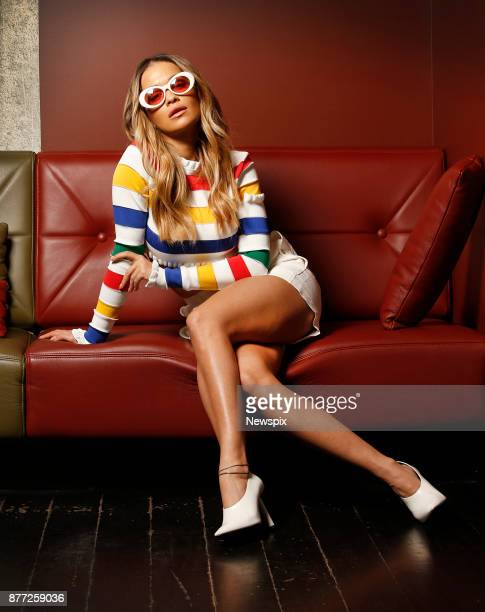 MELBOURNE VIC Singer Rita Ora poses during a photo shoot at the QT Hotel in Melbourne Victoria