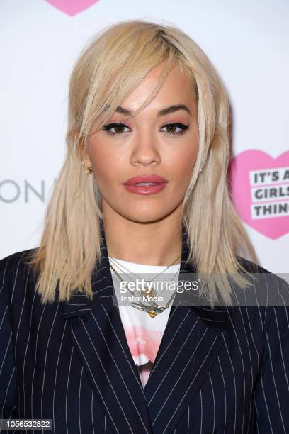 UK singer Rita Ora promotes the first Onygo and Rita Ora campaign 'It's a girls thing' during a fan selfie session at Onygo store at Alexa shopping...