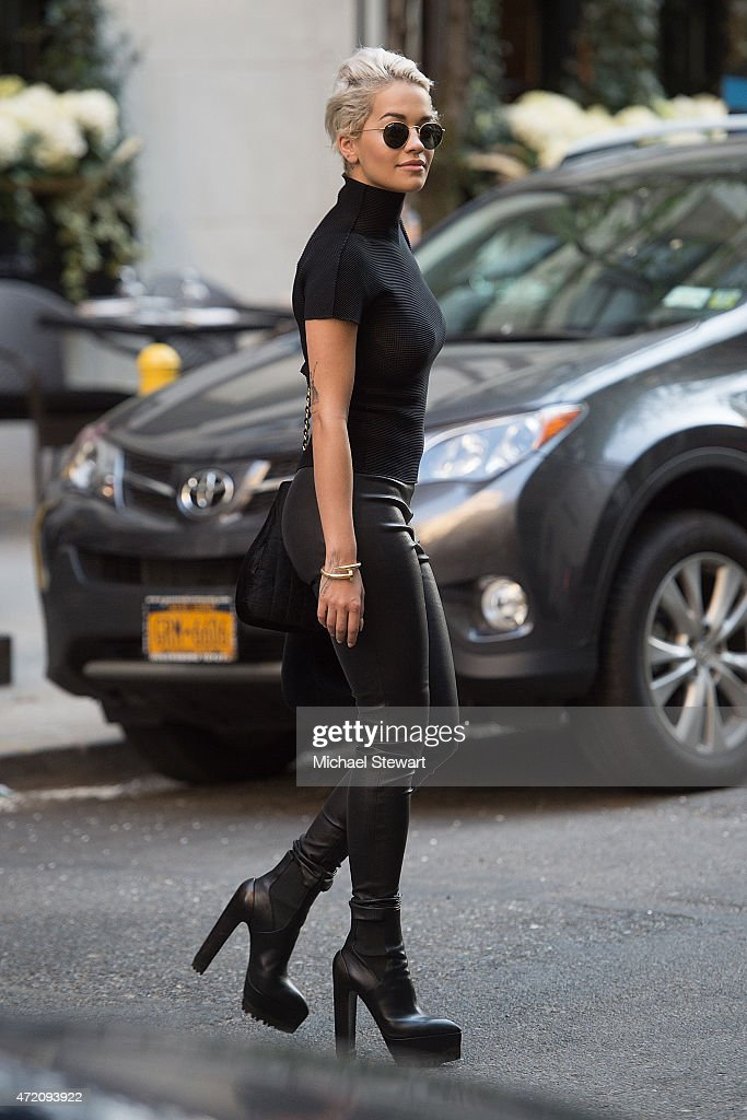 Singer Rita Ora seen on the streets of Manhattan on May 3, 2015 in New York City.