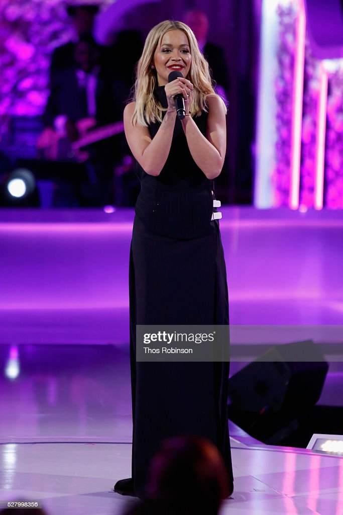Singer Rita Ora speaks onstage at VH1's 'Dear Mama' Event on May 3, 2016 in New York City. Tune-in to VH1 on Sunday, May 8, 2016 at 9pm to watch 'Dear Mama'.