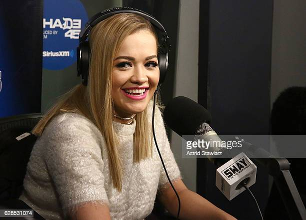 Singer Rita Ora visits 'Sway in the Morning' with Sway Calloway on Eminem's Shade 45 at the SiriusXM Studios on December 8, 2016 in New York City.