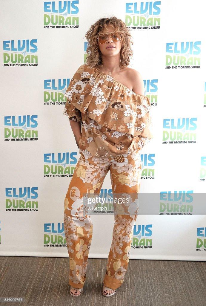 Singer Rita Ora visits the 'Elvis Duran Z100 Morning Show' at Z100 Studios on July 17, 2017 in New York City.