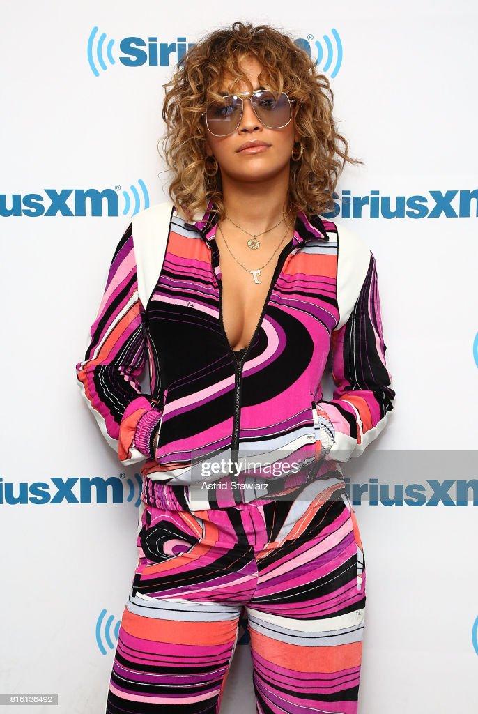 Singer Rita Ora visits the SiriusXM Studios on July 17, 2017 in New York City.