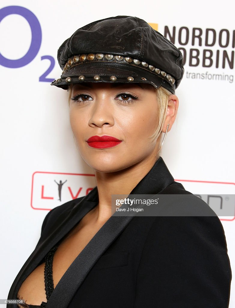 singer rita ora with her best female award during the nordoff robbins o2 silver clef awards - Silver Hotel 2015