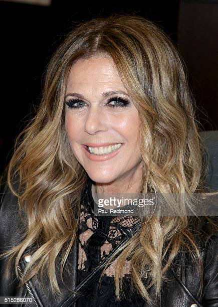 Singer Rita Wilson signs copies of her new CD at Barnes Noble at The Grove on March 12 2016 in Los Angeles California