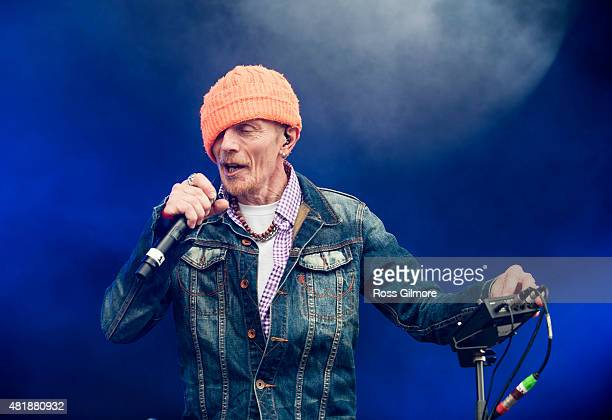 Singer Rob Birch of Stereo MCs performs at The Wickeman festival at Dundrennan on July 24, 2015 in Dumfries, Scotland.