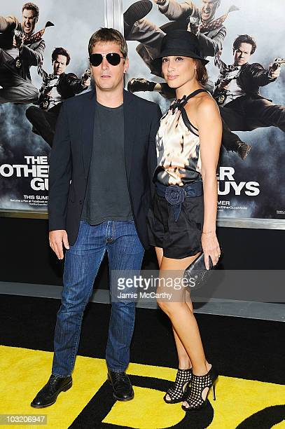 Singer Rob Thomas and wife Marisol Thomas attend the premiere of The Other Guys at the Ziegfeld Theatre on August 2 2010 in New York City