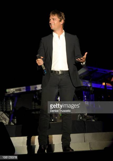 Singer Rob Thomas performs onstage during the Andre Agassi Foundation for Education's 15th Grand Slam for Children benefit concert at the Wynn Las...