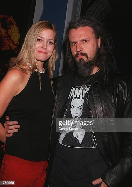 Singer Rob Zombie of White Zombie and date attends the premiere of 'Book Of Shadows Blair Witch 2' October 23 2000 in Hollywood CA