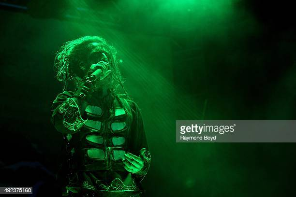 Singer Rob Zombie performs during the 'Louder Than Life' festival at Champions Park on October 3 2015 in Louisville Kentucky