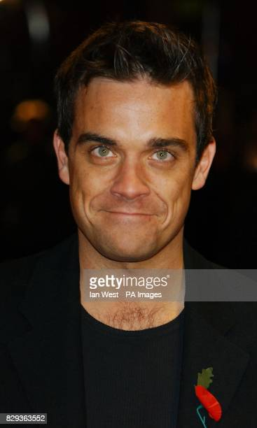 Singer Robbie Williams arrives for the UK Music Hall Of Fame live final at the Hackney Empire in east London The Channel 4 series looking at popular...