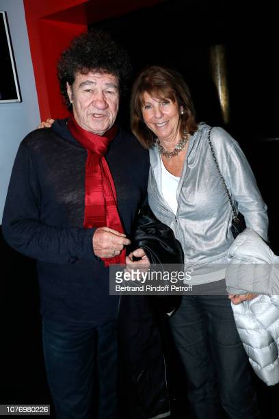 Singer Robert Charlebois and his wife Laurence attend the Alex Lutz's concert with the Group of singer Guy Jamet which he played in the movie Guy at...