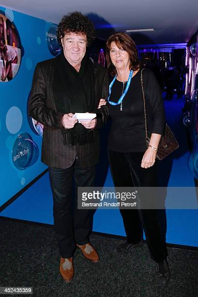 Singer Robert Charlebois and his wife Laurence Charlebois attend the 'One Drop' Gala held at Cirque du Soleil on November 28 2013 in Paris France