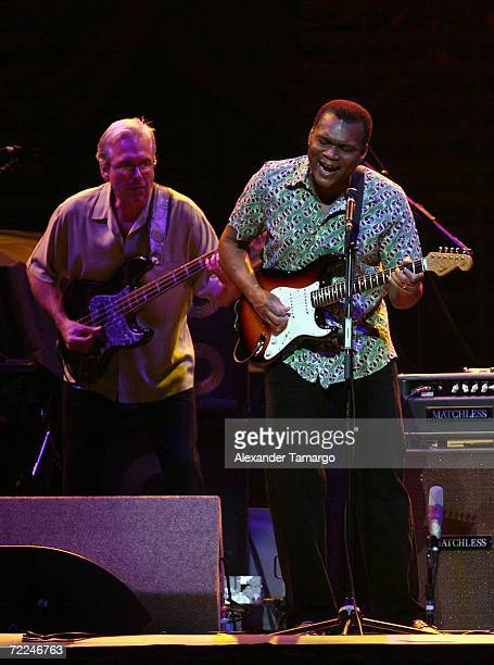 Singer Robert Cray performs during the Eric Clapton concert at American Airlines Arena on October 23 2006 in Miami Florida