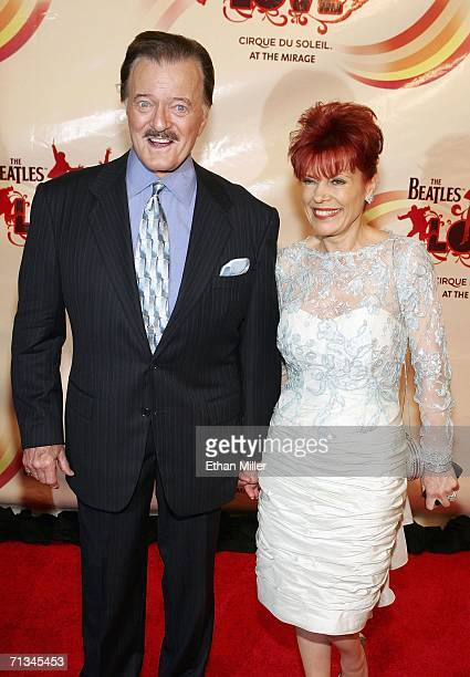 Singer Robert Goulet and his wife Vera arrive at the gala premiere of The Beatles LOVE by Cirque du Soleil at The Mirage Hotel Casino June 30 2006 in...