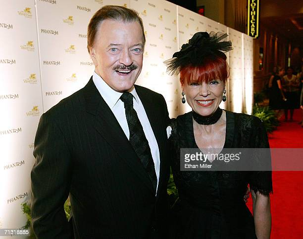 Singer Robert Goulet and his wife Vera arrive for the opening night of Phantom The Las Vegas Spectacular at the Venetian Resort Hotel Casino June 24...