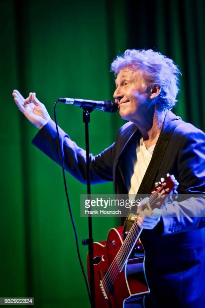 Singer Robert Hart of the British Manfred Mann's Earth Band performs live on stage during a concert at the ErnstReuterSaal on March 16 2018 in Berlin...