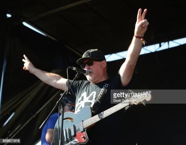 Singer Robert Hingley of The Toasters performs onstage during the Its Not Dead 2 Festival at Glen Helen Amphitheatre on August 26 2017 in San...