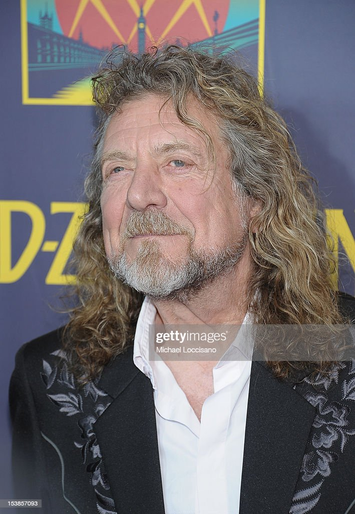 Singer Robert Plant attends the 'Led Zeppelin: Celebration Day' premiere at the Ziegfeld Theater on October 9, 2012 in New York City.