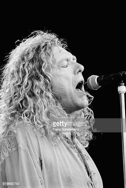 Singer Robert Plant performs at Parkpop on June 27th 1993 The Hague Netherlands