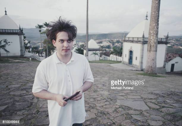 Singer Robert Smith of English rock group The Cure in Brazil during the band's 1987 tour 30th March 1987