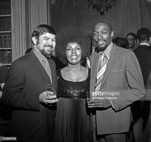 Singer Roberta Flack and party guests at an Atlantic Records party in her honor at the St Regis Hotel on November 17 1969 in New York New York