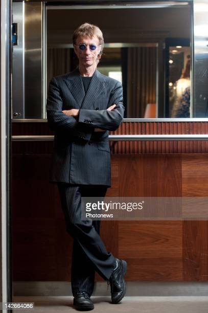 Singer Robin Gibb of the Bee Gees poses during a portrait session on June 7 2011 in BrusselsBelgium