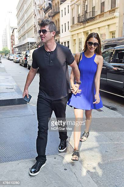 Singer Robin Thicke and April Love Geary are seen on June 8 2015 in New York City