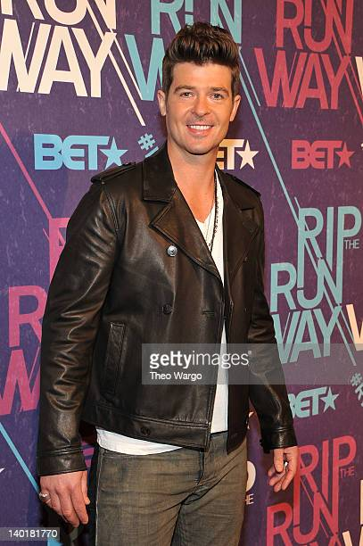 Singer Robin Thicke attends BET's Rip the Runway 2012 at Hammerstein Ballroom on February 29, 2012 in New York City.