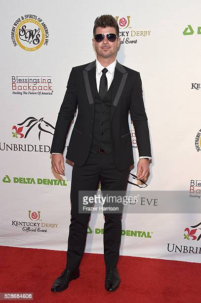 Singer Robin Thicke attends the Unbridled Eve Gala during the 142nd Kentucky Derby on May 6 2016 in Louisville Kentucky