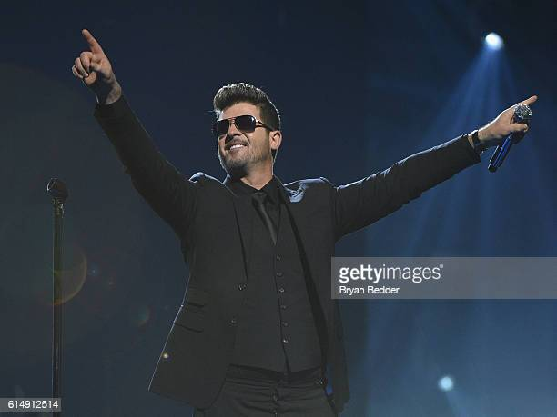 Singer Robin Thicke performs onstage during TIDAL X 1015 on October 15 2016 in New York City