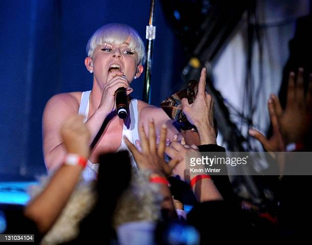 Singer Robyn performs at MTV's O Music Awards 2 at Halloween Carnaval on October 31 2011 in West Hollywood California