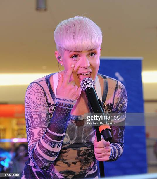 Singer Robyn performs during JetBlue's Live From T5 concert series at Terminal 5 at JFK Airport on June 20 2011 in New York City