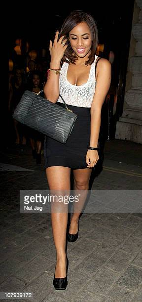 Singer Rochelle Wiseman of The Saturdays sighting at Cocoon Club on January 8 2011 in London England