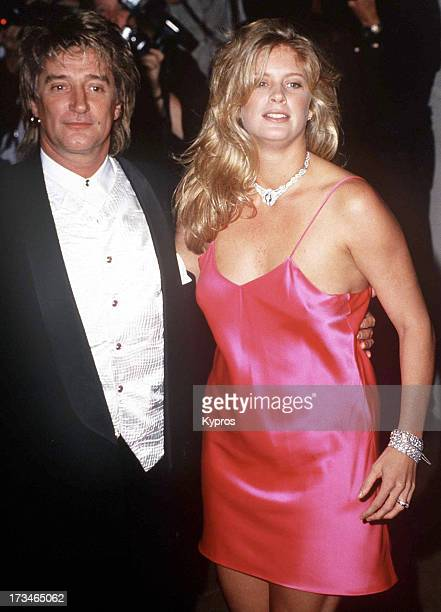 Singer Rod Stewart and his wife model Rachel Hunter during the 10th Carousel of Hope Ball to Benefit Juvenile Diabetes at the Beverly Hilton Hotel in...