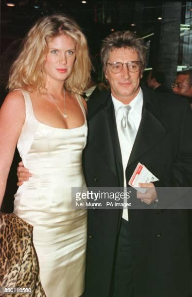 Singer Rod Stewart and his wife Rachel Hunter at the premiere of Evita * 8/1/99 Rock star Rod Stewart has split from his wife Rachel Hunter his...