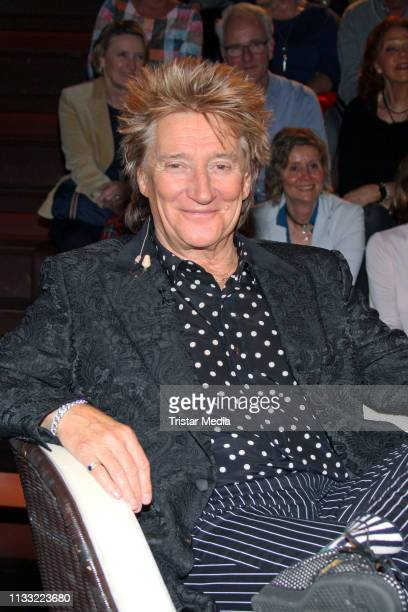 UK singer Rod Stewart during the Markus Lanz TV show on March 27 2019 in Hamburg Germany