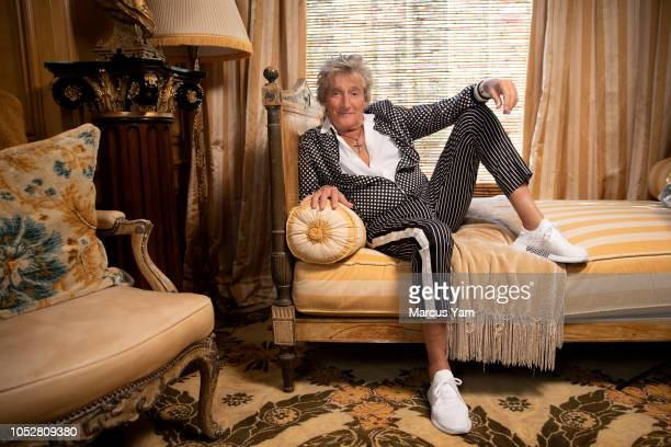 Singer Rod Stewart is photographed for Los Angeles Times on August 16 2018 at home in Beverly Hills California PUBLISHED IMAGE CREDIT MUST READ...