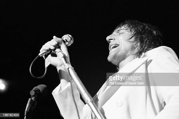 Singer Rod Stewart of the Faces performs at the Mar Y Sol Festival in April 1972 in Manati Puerto Rico