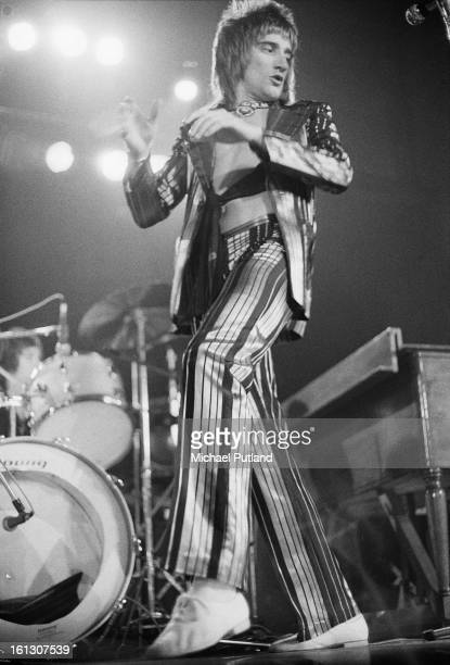 Singer Rod Stewart performing with Faces at Newcastle City Hall 8th December 1972