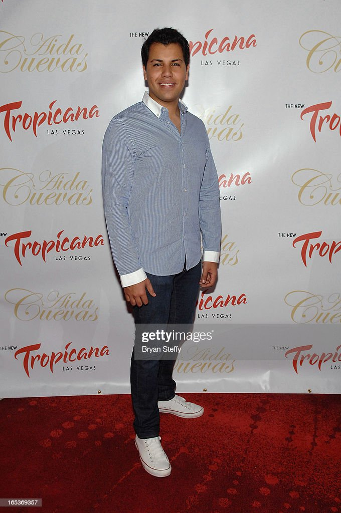 Singer Rodrigo Cuevas attends a press conference announcing Aida Cuevas's Cinco de Mayo performance at the Tropicana Theater at the New Tropicana on April 3, 2013 in Las Vegas, Nevada.