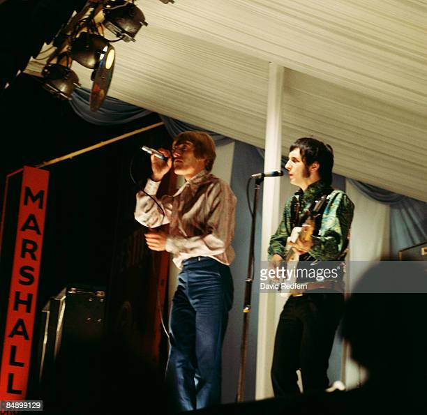 FESTIVAL Photo of The Who and Roger DALTREY and John ENTWISTLE Roger Daltrey and John Entwistle performing on stage