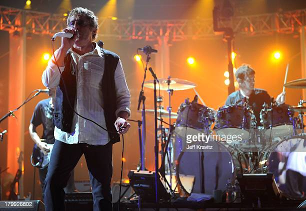 Singer Roger Daltrey and drummer Zak Starkey of The Who perform onstage at the 2008 VH1 Rock Honors honoring The Who at UCLA's Pauley Pavilion on...